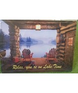 Lake Time Relax Lake View Chair Metal Sign 12 x 17 Man Cave Garage Works... - £8.43 GBP