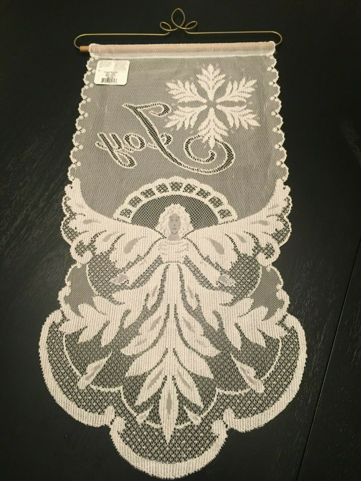 Heritage Lace Snow Angels Joy Wall Hanging Christmas Holiday Home Decor NWT