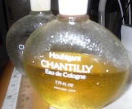 Perfume Fragrance Chantilly Eau De Cologne Vtg. 7.75 Oz. Half Full + 1 Empty - $28.96