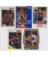 San Antonio Spurs Signed Lot of (5) Trading Cards - Dawkins, Carr, Brick... - $9.99