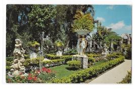 Clearwater FL Kapok Tree Inn East Garden Three Graces Statue Vintage Postcard - $3.99