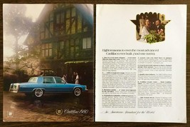 1979 Two Page Print Ad for the 1980 Cadillac Fleetwood Brougham Couples Villa - $11.69