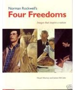 "NORMAN ROCKWELL "" Four Freedoms "" 1993 1st HC/DJ - $8.00"