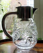 Silver Plate : An attractive WMF silver plate and cut glass Lemonade Jug - $380.47