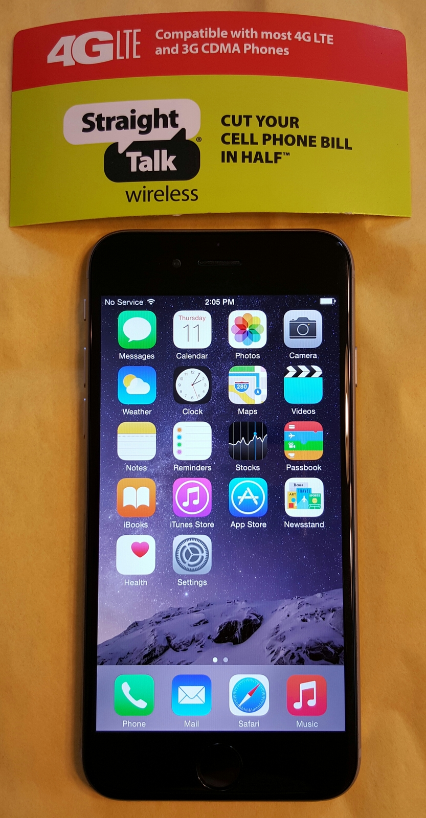 iphone straight talk iphone 6 gray 16gb for staight talk at amp t 4g lte 2089