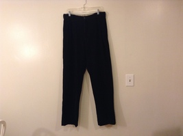 Men Eddie Bauer Black Corduroy 100% Cotton Pants, size 33