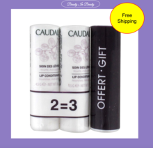 Caudalie Lip Conditioner Stick Lip Balm 4.5 Gr. - 3 Sticks, New & Sealed - $19.79