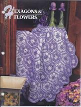 Hexagons & Flowers Afghan Crochet Pattern~Annie's Quilt & Afghan Club  - $5.99