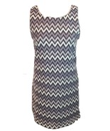 M/L Forever 21 Gray Sleeveless Tank Stretch Bodycon Formal Zigzag Patter... - $24.99