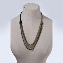 Multi Gold Chain Statement Necklace