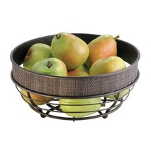 Bronze Finish Durable Steel Woven Wire Fruit Decorative Kitchen Countert... - $25.54