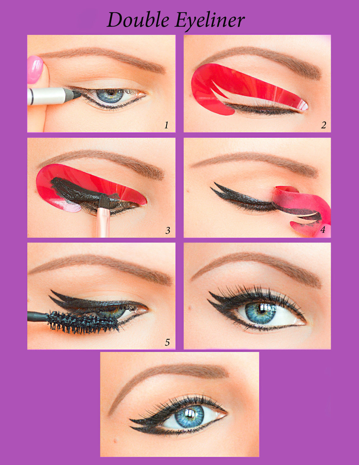 Quick Eyeliner Stickies Stencils Cosmetic Eye Makeup Tool NEW Free Shipping UK11