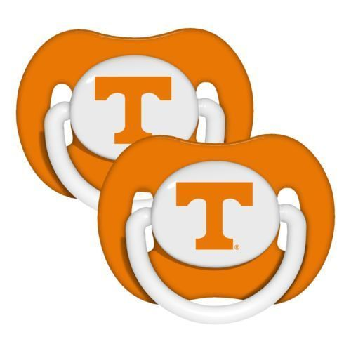 TENNESSEE VOLUNTEERS 2-PACK BABY INFANT ORTHODONTIC PACIFIER SET NCAA