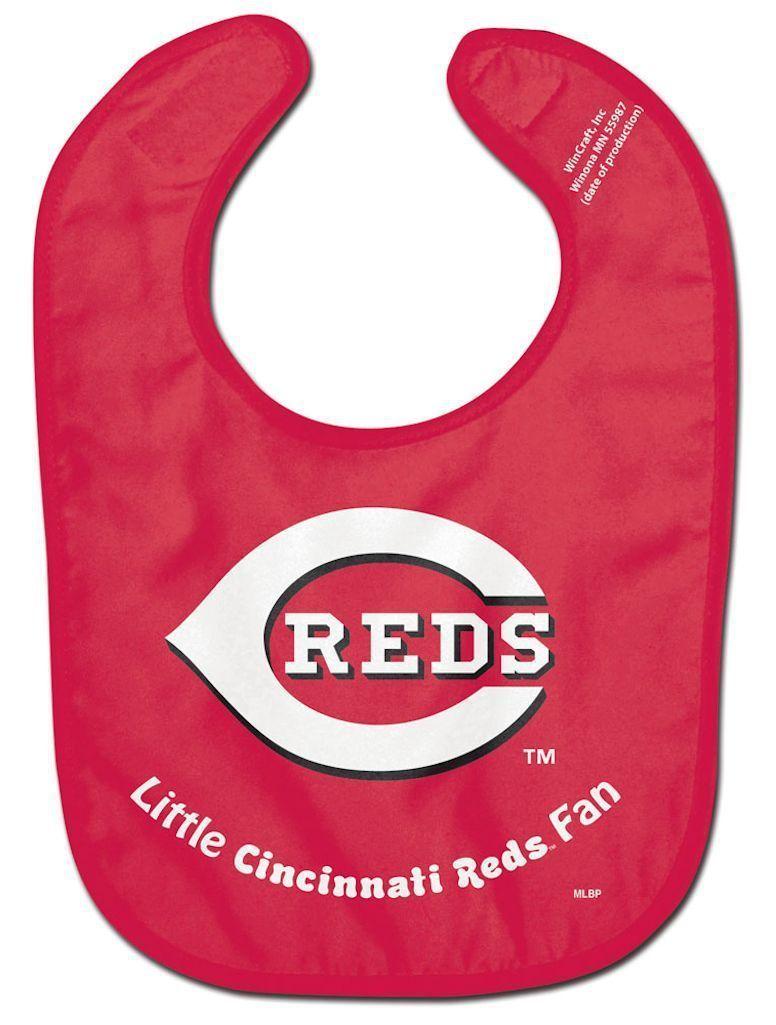 CINCINNATI REDS ALL PRO BABY BIB VELCRO CLOSURE TEAM LOGO MLB BASEBALL