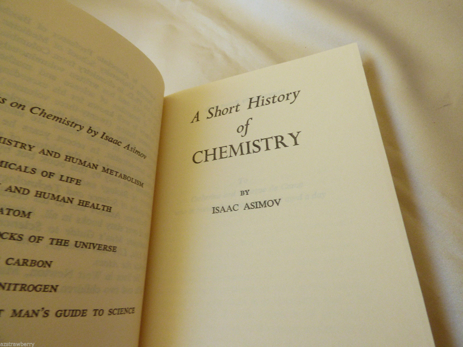 asimov on chemistry by isaac asimov Asimov on chemistry has 192 ratings and 9 reviews thomas ray said: what  asimov did best was to explain science to nonscientists--and he was  breathtaking.