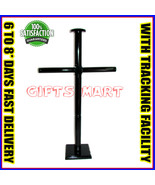 Black Solid Wooden Armor Display Stand for Medieval Breast Plate and Helmet - $48.00