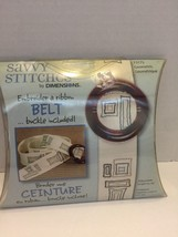 Dimensions Savvy Stitches Belt Kit Embroider Geometric Adjustable Length  - $5.89