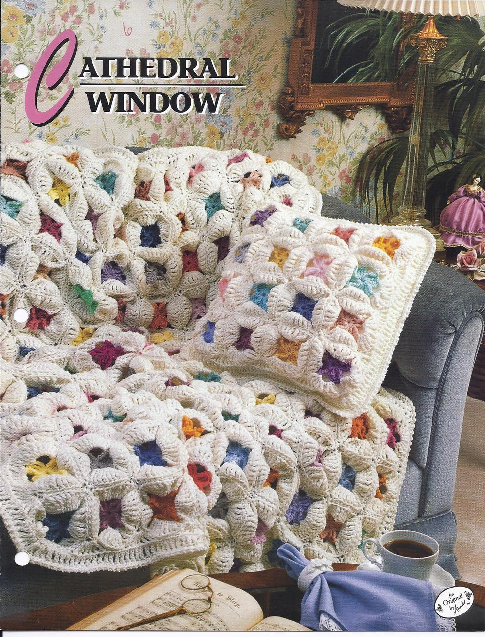 Primary image for Cathedral Window Afghan Crochet Pattern~Annie's Quilt & Afghan Club