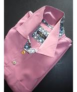 Half  sleeve polo shirt, luxury peachskin dusty pink , hand made in England - $29.50