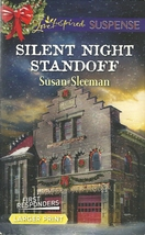 Silent Night Standoff Susan Sleeman(First Responders)(Love Inspired LP S... - $2.25