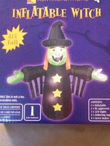 New Halloween 4' Airblown Inflatable Green Witch LED Yard Decoration - $24.74