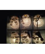 NEW Set Of 6 Sparkling Crystal Christmas/Winter Snowmen Novelty Lights - $17.81
