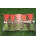 New Set of Ten Red and Green Christmas Tree with Gold Stars Novelty Lights - $9.89