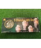 New Set Of 5 Christmas Cherub Lights - $14.84