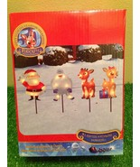 NEW Set of 4 Christmas Rudolph the Red-Nosed Reindeer Lighted Pathway Ma... - $19.79