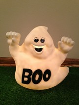 """Rare  11"""" White Halloween """"BOO"""" Ghost Lighted Indoor/Outdoor Decoration - $27.71"""