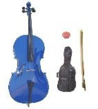 Lucky Gifts 1/16 Size Student Cello with Bag and Bow + Free Rosin ~ Blue - $399.99