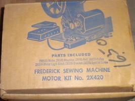 Frederick Sewing Machine Motor Kit #2X420 NOS Motor, Pedal, Belt & Duplex Plug image 2