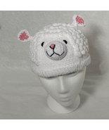 White Lamb Hat for Children - Animal Hats - Large - $16.00