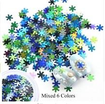 HS Store -  Kode 02 1 Box Nail Sequins Snowflakes Christmas Decorations - $1.71