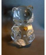 "April  Fenton 3 1/2"" Crystal Bear Gold Tone Jewel No Birthstone  - $7.90"