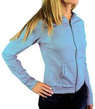 Levi's Juniors Basic Classic Cotton Athletic Hoodie Jacket Sky Blue Sweater M
