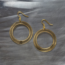 Contemporary Gold hoop earrings