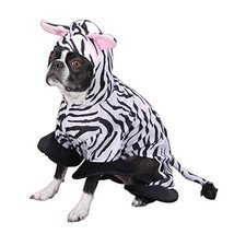 Zack & Zoey Polyester Zebra Stripes Dog Costume, X-Small, 8-Inch - ₹3,276.40 INR