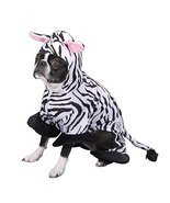 Zack & Zoey Polyester Zebra Stripes Dog Costume, X-Small, 8-Inch - £34.17 GBP