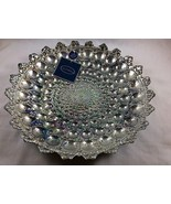 Decorative Bowl, Handmade Crystal Painted with 100% Silver. Azzurra Brand. - $30.00