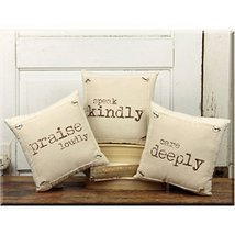 Praise Loudly, Speak Kindly, Care Deeply - Vintage Inspirational 10-in T... - $39.99