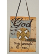 Weathered Religious Plaque - God makes all things... - $10.99
