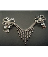 Rhinestone Hair Clip Wedding Butterflys Dangle ... - $13.99