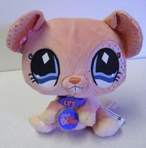 Plush Stuffed Mouse Littlest Pet Shop 2007 Pink no code. Satin Ears Hasbro - $14.65