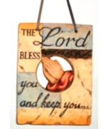 Weathered Religious Plaque - The Lord Bless You... - $10.99