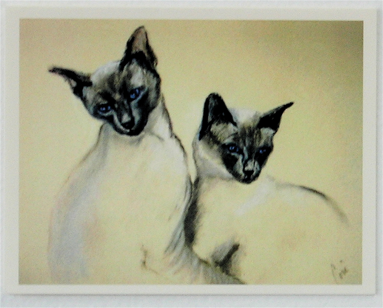 Sibling love siamese cats note cards by cori solomon