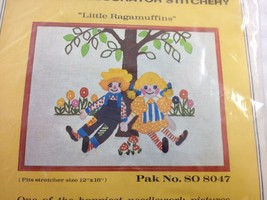 "Bernat Little Ragamuffins Crewel Needlework Kit NEW 8047 12 x 16"" - $38.17"