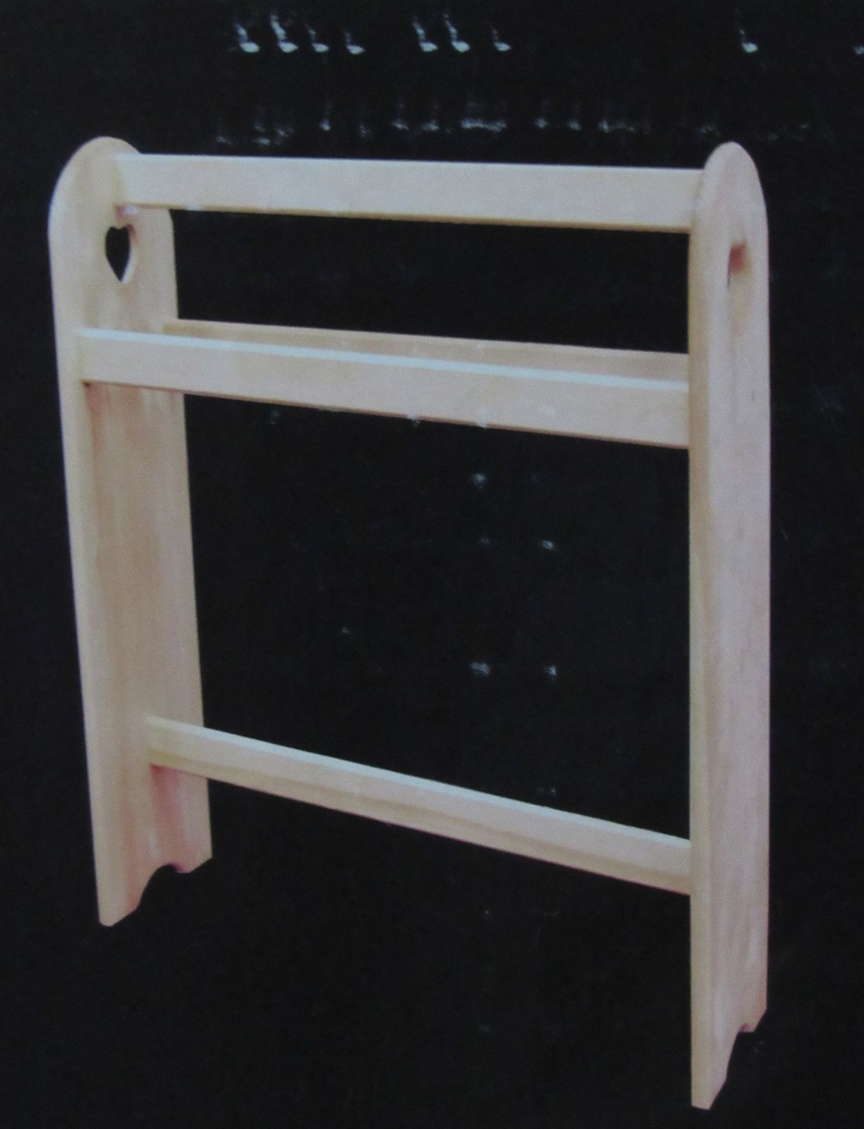 Woodline Works Quilt Rack Unfinished Solid Pine Wood R.T.A.
