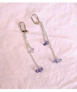 "true blueberry quartz in silver 2.5"" earrings g... - $9.00"
