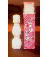 "Lovely Avon white milk glass poodle perfume bottle""Heres my Heart"" With box - $4.99"